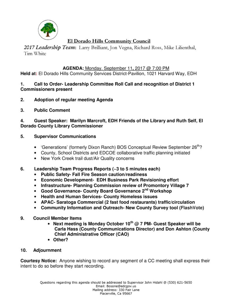 edh community council september 2017 meeting