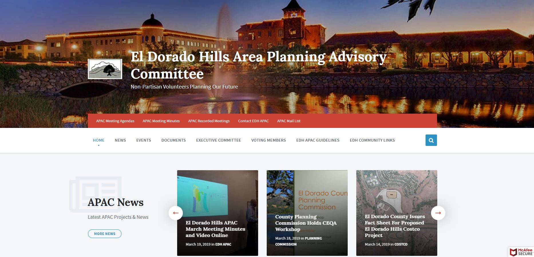Apachome El Dorado Hills Area Planning Advisory Committee